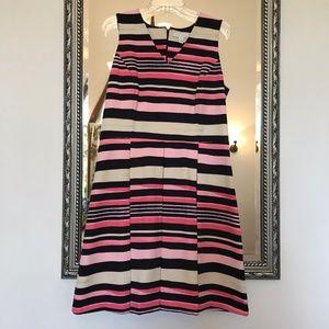 Charter Club Striped pleated dress